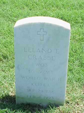 CRABBE (VETERAN 2 WARS), LELAND E - Pulaski County, Arkansas | LELAND E CRABBE (VETERAN 2 WARS) - Arkansas Gravestone Photos