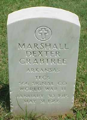 CRABTREE (VETERAN WWII), MARSHALL DEXTER - Pulaski County, Arkansas | MARSHALL DEXTER CRABTREE (VETERAN WWII) - Arkansas Gravestone Photos