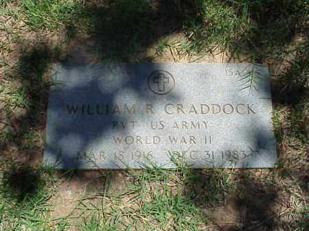 CRADDOCK (VETERAN WWII), WILLIAM R - Pulaski County, Arkansas | WILLIAM R CRADDOCK (VETERAN WWII) - Arkansas Gravestone Photos