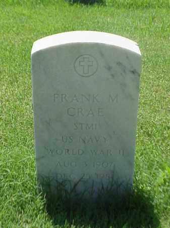 CRAE (VETERAN WWII), FRANK M - Pulaski County, Arkansas | FRANK M CRAE (VETERAN WWII) - Arkansas Gravestone Photos