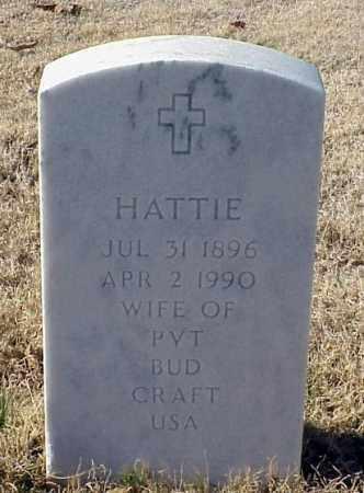 CRAFT, HATTIE - Pulaski County, Arkansas | HATTIE CRAFT - Arkansas Gravestone Photos