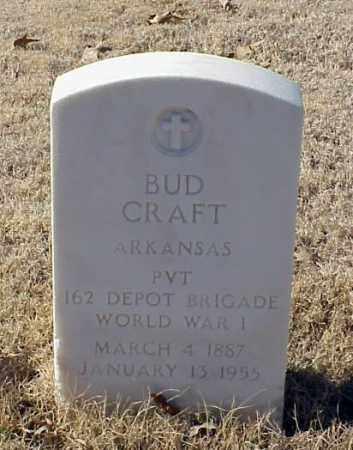 CRAFT (VETERAN WWI), BUD - Pulaski County, Arkansas | BUD CRAFT (VETERAN WWI) - Arkansas Gravestone Photos