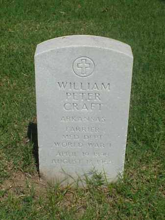 CRAFT (VETERAN WWI), WILLIAM PETER - Pulaski County, Arkansas | WILLIAM PETER CRAFT (VETERAN WWI) - Arkansas Gravestone Photos
