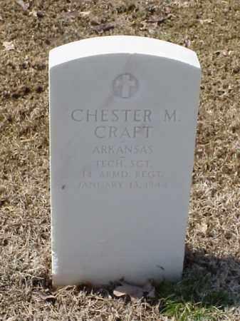 CRAFT (VETERAN WWII), CHESTER M - Pulaski County, Arkansas | CHESTER M CRAFT (VETERAN WWII) - Arkansas Gravestone Photos