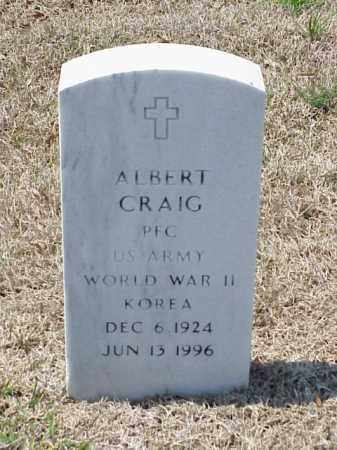 CRAIG (VETERAN 2 WARS), ALBERT - Pulaski County, Arkansas | ALBERT CRAIG (VETERAN 2 WARS) - Arkansas Gravestone Photos