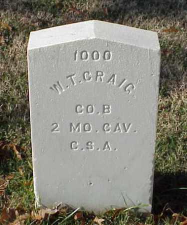 CRAIG (VETERAN CSA), W T - Pulaski County, Arkansas | W T CRAIG (VETERAN CSA) - Arkansas Gravestone Photos