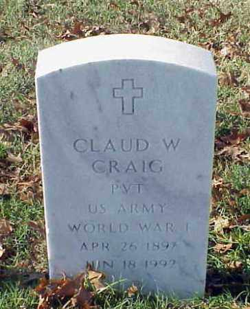 CRAIG (VETERAN WWI), CLAUD W - Pulaski County, Arkansas | CLAUD W CRAIG (VETERAN WWI) - Arkansas Gravestone Photos