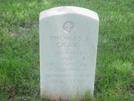 CRAIG (VETERAN WWII), THOMAS S - Pulaski County, Arkansas | THOMAS S CRAIG (VETERAN WWII) - Arkansas Gravestone Photos