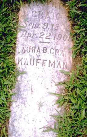 KAUFFMAN, LAURA B. - Pulaski County, Arkansas | LAURA B. KAUFFMAN - Arkansas Gravestone Photos