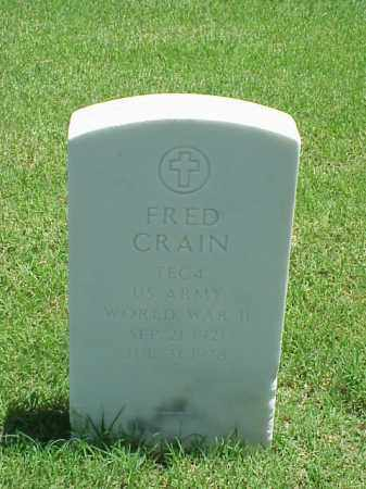 CRAIN (VETERAN WWII), FRED - Pulaski County, Arkansas | FRED CRAIN (VETERAN WWII) - Arkansas Gravestone Photos