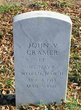 CRAMER (VETERAN WWII), JOHN V - Pulaski County, Arkansas | JOHN V CRAMER (VETERAN WWII) - Arkansas Gravestone Photos
