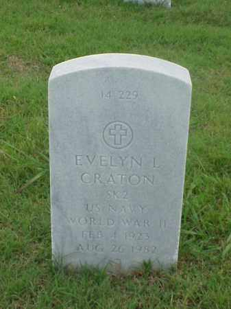 CRATON (VETERAN WWII), EVELYN L - Pulaski County, Arkansas | EVELYN L CRATON (VETERAN WWII) - Arkansas Gravestone Photos