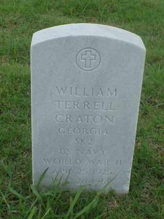 CRATON (VETERAN WWII), WILLIAM TERRELL - Pulaski County, Arkansas | WILLIAM TERRELL CRATON (VETERAN WWII) - Arkansas Gravestone Photos