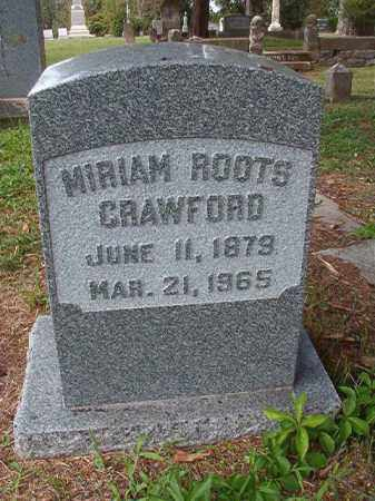 ROOTS CRAWFORD, MIRIAM - Pulaski County, Arkansas | MIRIAM ROOTS CRAWFORD - Arkansas Gravestone Photos