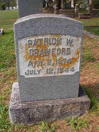 CRAWFORD, PATRICK W - Pulaski County, Arkansas | PATRICK W CRAWFORD - Arkansas Gravestone Photos