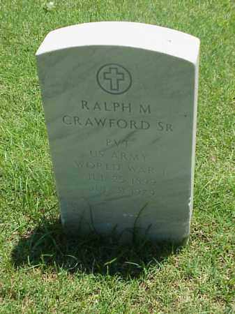 CRAWFORD ,SR (VETERAN WWI), RALPH M - Pulaski County, Arkansas | RALPH M CRAWFORD ,SR (VETERAN WWI) - Arkansas Gravestone Photos