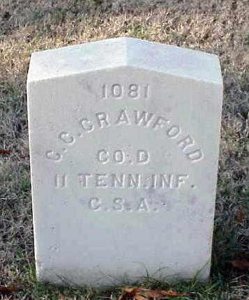 CRAWFORD (VETERAN CSA), C C - Pulaski County, Arkansas | C C CRAWFORD (VETERAN CSA) - Arkansas Gravestone Photos