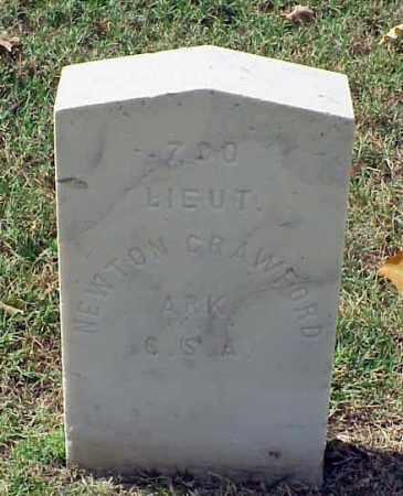 CRAWFORD (VETERAN CSA), NEWTON - Pulaski County, Arkansas   NEWTON CRAWFORD (VETERAN CSA) - Arkansas Gravestone Photos