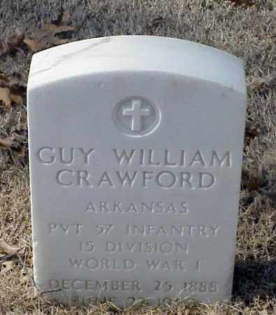 CRAWFORD (VETERAN WWI), GUY WILLIAM - Pulaski County, Arkansas | GUY WILLIAM CRAWFORD (VETERAN WWI) - Arkansas Gravestone Photos