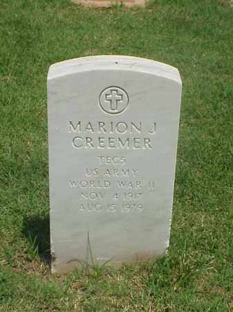 CREEMER (VETERAN WWII), MARION J - Pulaski County, Arkansas | MARION J CREEMER (VETERAN WWII) - Arkansas Gravestone Photos