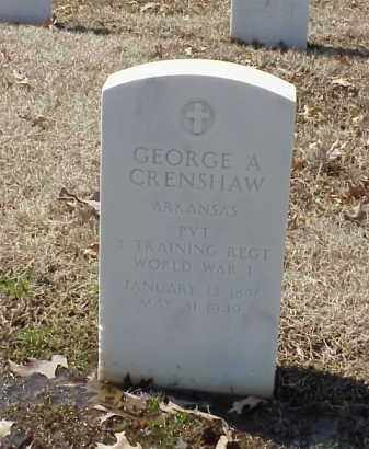 CRENSHAW (VETERAN WWI), GEORGE A - Pulaski County, Arkansas | GEORGE A CRENSHAW (VETERAN WWI) - Arkansas Gravestone Photos