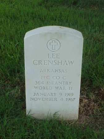 CRENSHAW (VETERAN WWII), LEE - Pulaski County, Arkansas | LEE CRENSHAW (VETERAN WWII) - Arkansas Gravestone Photos