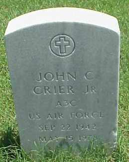 CRIER, JR (VETERAN), JOHN C - Pulaski County, Arkansas | JOHN C CRIER, JR (VETERAN) - Arkansas Gravestone Photos
