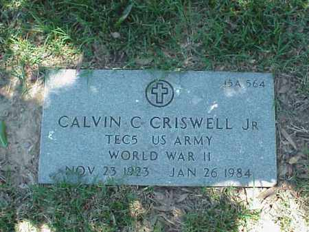 CRISWELL, JR (VETERAN WWII), CALVIN C - Pulaski County, Arkansas | CALVIN C CRISWELL, JR (VETERAN WWII) - Arkansas Gravestone Photos