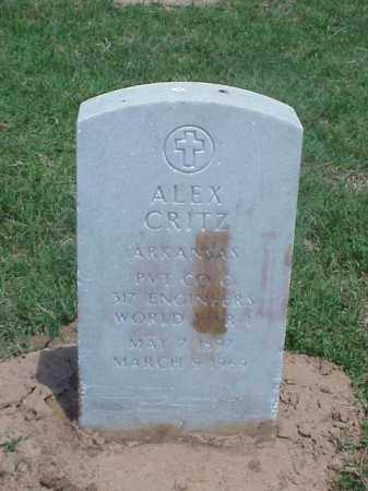 CRITZ (VETERAN WWI), ALEX - Pulaski County, Arkansas | ALEX CRITZ (VETERAN WWI) - Arkansas Gravestone Photos