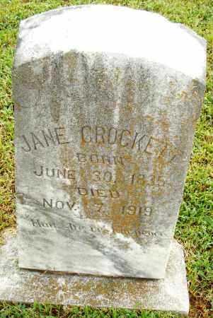 CROCKETT, JANE - Pulaski County, Arkansas | JANE CROCKETT - Arkansas Gravestone Photos
