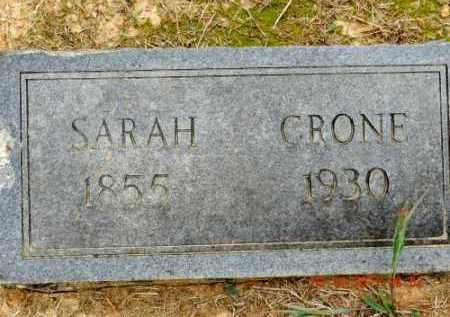 CRONE, SARAH - Pulaski County, Arkansas | SARAH CRONE - Arkansas Gravestone Photos