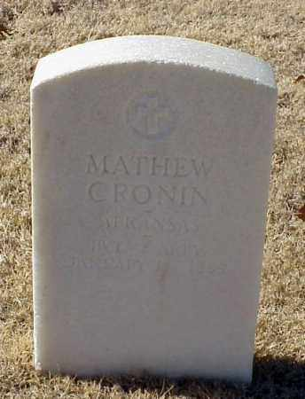 CRONIN (VETERAN UNION), MATHEW - Pulaski County, Arkansas | MATHEW CRONIN (VETERAN UNION) - Arkansas Gravestone Photos