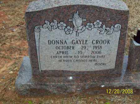 CROOK, DONNA GAYLE - Pulaski County, Arkansas | DONNA GAYLE CROOK - Arkansas Gravestone Photos
