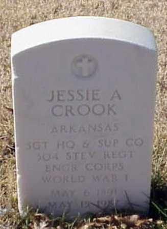 CROOK (VETERAN WWI), JESSIE A - Pulaski County, Arkansas | JESSIE A CROOK (VETERAN WWI) - Arkansas Gravestone Photos