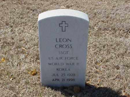 CROSS  (VETERAN 2 WARS), LEON - Pulaski County, Arkansas | LEON CROSS  (VETERAN 2 WARS) - Arkansas Gravestone Photos