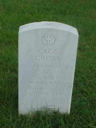 CROSS (VETERAN WWI), CAGE - Pulaski County, Arkansas | CAGE CROSS (VETERAN WWI) - Arkansas Gravestone Photos