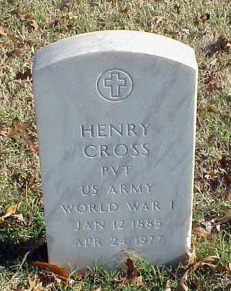 CROSS (VETERAN WWI), HENRY - Pulaski County, Arkansas | HENRY CROSS (VETERAN WWI) - Arkansas Gravestone Photos