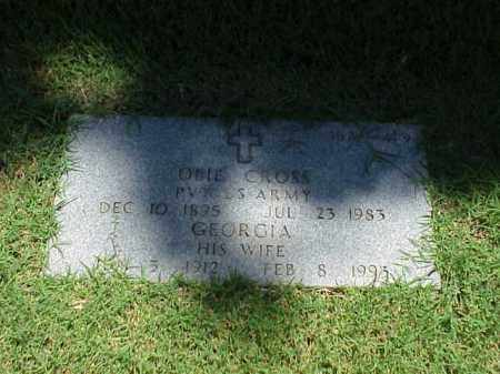 CROSS (VETERAN WWI), OBIE - Pulaski County, Arkansas | OBIE CROSS (VETERAN WWI) - Arkansas Gravestone Photos
