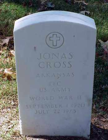 CROSS (VETERAN WWII), JONAS - Pulaski County, Arkansas | JONAS CROSS (VETERAN WWII) - Arkansas Gravestone Photos