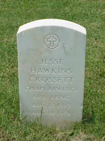 CROSSETT (VETERAN 2 WARS), JESSE HAWKINS - Pulaski County, Arkansas | JESSE HAWKINS CROSSETT (VETERAN 2 WARS) - Arkansas Gravestone Photos