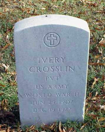 CROSSLIN (VETERAN WWII), IVERY - Pulaski County, Arkansas | IVERY CROSSLIN (VETERAN WWII) - Arkansas Gravestone Photos