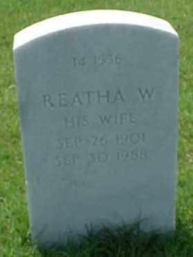 CROTZER, REATHA W. - Pulaski County, Arkansas | REATHA W. CROTZER - Arkansas Gravestone Photos