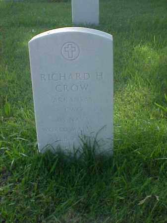 CROW (VETERAN 2 WARS), RICHARD H - Pulaski County, Arkansas | RICHARD H CROW (VETERAN 2 WARS) - Arkansas Gravestone Photos