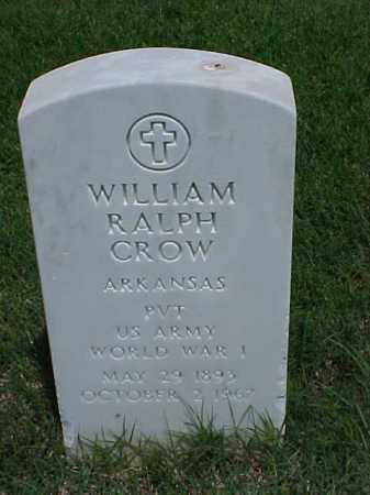 CROW (VETERAN WWI), WILLIAM RALPH - Pulaski County, Arkansas | WILLIAM RALPH CROW (VETERAN WWI) - Arkansas Gravestone Photos