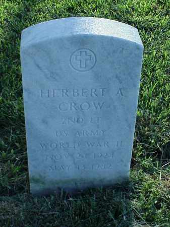 CROW (VETERAN WWII), HERBERT A - Pulaski County, Arkansas | HERBERT A CROW (VETERAN WWII) - Arkansas Gravestone Photos