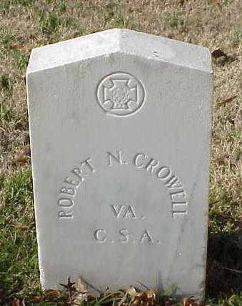 CROWELL (VETERAN CSA), ROBERT N - Pulaski County, Arkansas | ROBERT N CROWELL (VETERAN CSA) - Arkansas Gravestone Photos