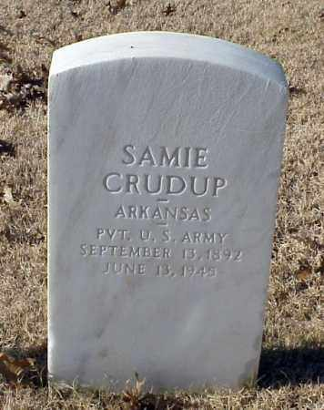 CRUDUP (VETERAN WWI), SAMIE - Pulaski County, Arkansas | SAMIE CRUDUP (VETERAN WWI) - Arkansas Gravestone Photos
