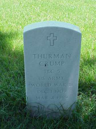 CRUMP (VETERAN WWII), THURMAN - Pulaski County, Arkansas | THURMAN CRUMP (VETERAN WWII) - Arkansas Gravestone Photos