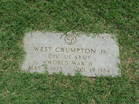 CRUMPTON, JR (VETERAN WWII), WEST - Pulaski County, Arkansas | WEST CRUMPTON, JR (VETERAN WWII) - Arkansas Gravestone Photos