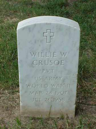 CRUSOE (VETERAN WWII), WILLIE W - Pulaski County, Arkansas | WILLIE W CRUSOE (VETERAN WWII) - Arkansas Gravestone Photos
